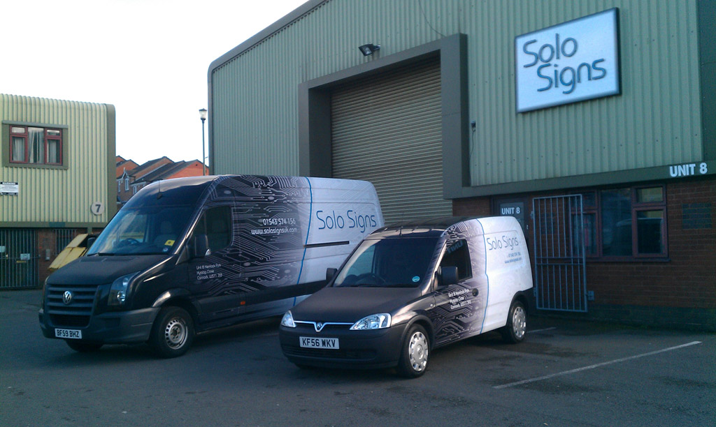 Fully wrapped vans