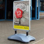Sightmaster Clipframe Pavement Sign